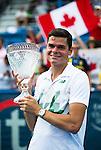 Milos Raonic (CAN) wins CitiOpen against Vasek Pospisil (CAN) 6-1, 6-4