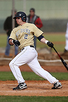 February 27, 2010:  Second Baseman Colin Durborow (2) of West Virginia Mountaineers during the Big East/Big 10 Challenge at Raymond Naimoli Complex in St. Petersburg, FL.  Photo By Mike Janes/Four Seam Images
