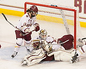 Haley McLean (BC - 13), Katie Burt (BC - 33) - The Boston College Eagles defeated the visiting Boston University Terriers 5-3 (EN) on Friday, November 4, 2016, at Kelley Rink in Conte Forum in Chestnut Hill, Massachusetts.The Boston College Eagles defeated the visiting Boston University Terriers 5-3 (EN) on Friday, November 4, 2016, at Kelley Rink in Conte Forum in Chestnut Hill, Massachusetts.