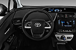 Car pictures of steering wheel view of a 2018 Toyota Prius Two 5 Door Hatchback Steering Wheel