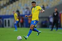 10th July 2021, Estádio do Maracanã, Rio de Janeiro, Brazil. Copa America tournament final, Argentina versus Brazil;  Danilo of Brazil