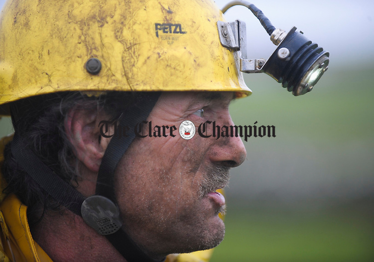 Robin Sheen, one of three cavers rescued from a cave in Doolin. Photograph by John Kelly.