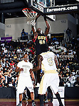 Grambling State Tigers center Peter Roberson (40) in action during the SWAC Championship game between the Alabama State Hornets and the Grambling State Tigers at the Special Events Center in Garland, Texas. Alabama State defeats Grambling State 65 to 48.