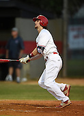 Lake Mary Rams shortstop Brendan Rodgers (3) hits a home run during a game against the Lake Brantley Patriots on April 2, 2015 at Allen Tuttle Field in Lake Mary, Florida.  Lake Brantley defeated Lake Mary 10-5.  (Mike Janes Photography)