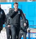 Hibs' manager Alan Stubbs at half time.