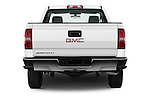 Straight rear view of 2016 GMC Sierra-1500 2WD-Regular-Cab-Long-Box 2 Door Pick-up Rear View  stock images