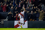 Jose Angel Pozo de la Rosa of Rayo Vallecano celebrates with the soccer fans during the La Liga 2018-19 match between Rayo Vallecano and FC Barcelona at Estadio de Vallecas, on November 03 2018 in Madrid, Spain. Photo by Diego Gouto / Power Sport Images