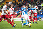 St Johnstone v Kilmarnock…15.10.16.. McDiarmid Park   SPFL<br />Murray Davidson shoots wide<br />Picture by Graeme Hart.<br />Copyright Perthshire Picture Agency<br />Tel: 01738 623350  Mobile: 07990 594431