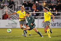 Allison Falk, Lindsay Tarpley #5, Sara Larsson...Saint Louis Athletica defeated Philadelphia Independence 2-1 at Anheuser-Busch Soccer Park, Fenton, MO.