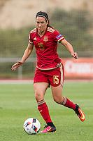 Spain's Silvia Meseguer during the match of  European Women's Championship 2017 at Las Rozas, between Spain and Montenegro. September 15, 2016. (ALTERPHOTOS/Rodrigo Jimenez) /NORTEPHOTO
