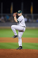 Siena Saints relief pitcher Nick Bruno (32) delivers a pitch during a game against the UCF Knights on February 17, 2017 at UCF Baseball Complex in Orlando, Florida.  UCF defeated Siena 17-6.  (Mike Janes/Four Seam Images)