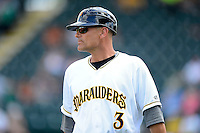 Bradenton Marauders manager Frank Kremblas #3 during a game against the Fort Myers Miracle at McKechnie Field on April 7, 2013 in Bradenton, Florida.  Fort Myers defeated Bradenton 9-8 in ten innings.  (Mike Janes/Four Seam Images)
