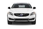Car photography straight front view of a 2015 Volvo V60 Summum 5 Door Wagon