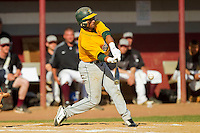 Bruce Valentin (7) of the SUNY Sullivan Generals at bat against the County College of Morris Titans on the campus of County College of Morris on April 9, 2013 in Randolph, New Jersey.  The Titans defeated the Generals 12-4.  (Brian Westerholt/Four Seam Images)