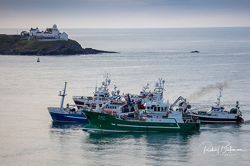 Part of the 73 Irish fishing vessels that participated in a mass demonstration at Cork Harbour