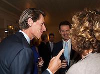 Februari 04, 2015, Apeldoorn, Omnisport, Fed Cup, Netherlands-Slovakia, Official Diner in Het Loo palace, Paul Haarhuis and Jacco Eltingh (M)<br /> Photo: Tennisimages/Henk Koster