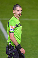 referee Ermaild Mataj pictured during a female soccer game between  AA Gent Ladies and Femina White Star Woluwe on the third matchday of the 2020 - 2021 season of Belgian Scooore Womens Super League , friday 2 nd of October 2020  in Oostakker , Belgium . PHOTO SPORTPIX.BE | SPP | STIJN AUDOOREN