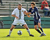 15 October 2008: University of Vermont Catamount backfielder Will Haywood, a Senior from Newton, MA, in action against the University of New Hampshire Wildcats at Centennial Field, in Burlington, Vermont. The Wildcats and Catamounts battled in overtime to a 0-0 tie...Mandatory Photo Credit: Ed Wolfstein Photo