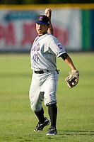 Gered Mochizuki #11 of the Kingsport Mets at Burlington Athletic Park July 3, 2009 in Burlington, North Carolina. (Photo by Brian Westerholt / Four Seam Images)