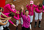 May 16, 2014: Lady Legend Jockey Barbara Jo Rubin is introduced with other lady legend riders on Black-Eyed Susan Day at Pimlico Race Course in Baltimore, MD. Scott Serio/ESW/CSM