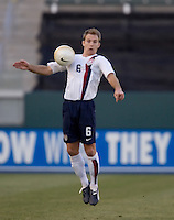 Bryan Namoff traps the ball. The USA defeated Denmark 3-1 in an International friendly at the Home Depot Center in Carson, CA on January 20, 2007.