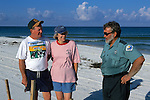 John & Peggy Jordan Looking At Turtle Nest