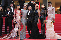 """Neelam Gill, Doutzen Kroes, Olivier Rousteing, Lara Stone, Irina Shayk and Maria Borges<br /> """"The Beguiled"""" Red Carpet<br /> Festival de Cannes 2017"""