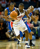Charlotte Bobcats guard Raymond Felton (20) breaks away from the Orlando Magic during an NBA basketball game  at Time Warner Cable Arena in Charlotte, NC.