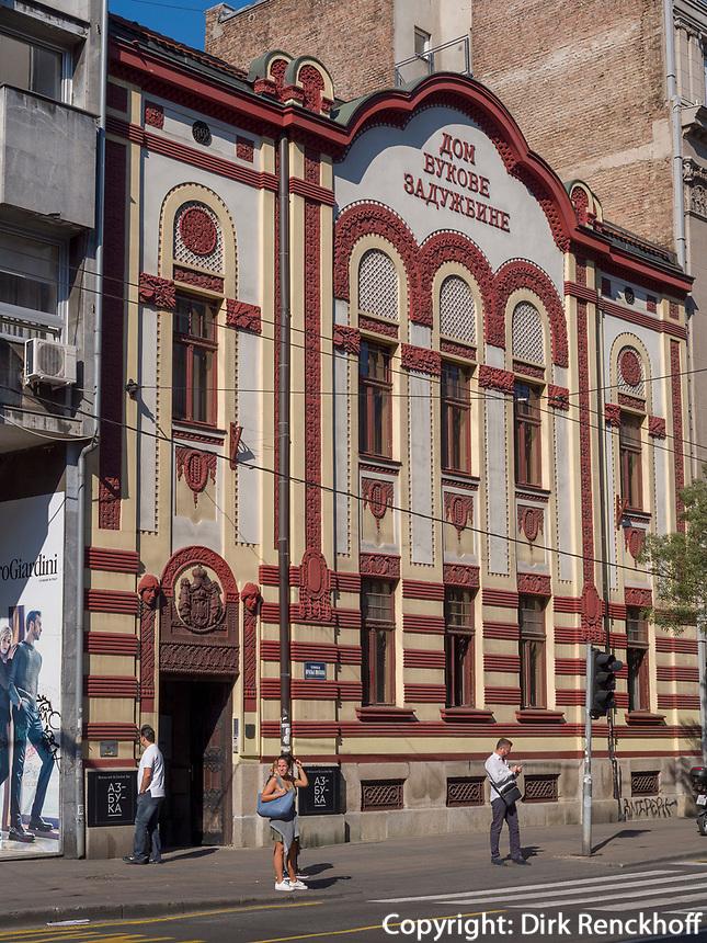 Jugendstil auf der Kralja Milana, Belgrad, Serbien, Europa<br /> Art Nouveau, at street Kralja Milana,, Belgrade, Serbia, Europe