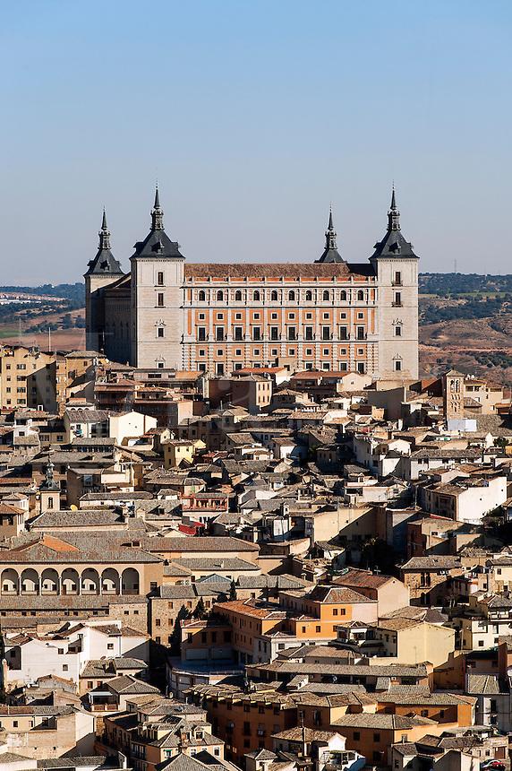Cityscape and Alcazar, Toledo, Spain