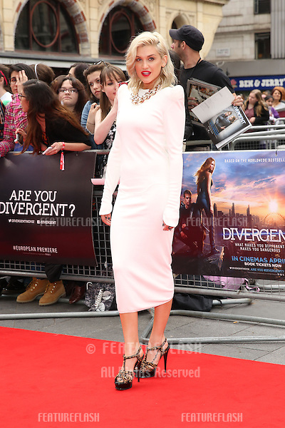 """Ashley Roberts arrives for the """"Divergent"""" UK premiere at the Odeon Leicester Square, London. 30/03/2014 Picture by: Henry Harris / Featureflash"""