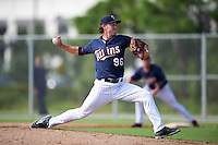Minnesota Twins pitcher Colton Davis (96) during an Instructional League game against the Boston Red Sox on September 24, 2016 at CenturyLink Sports Complex in Fort Myers, Florida.  (Mike Janes/Four Seam Images)