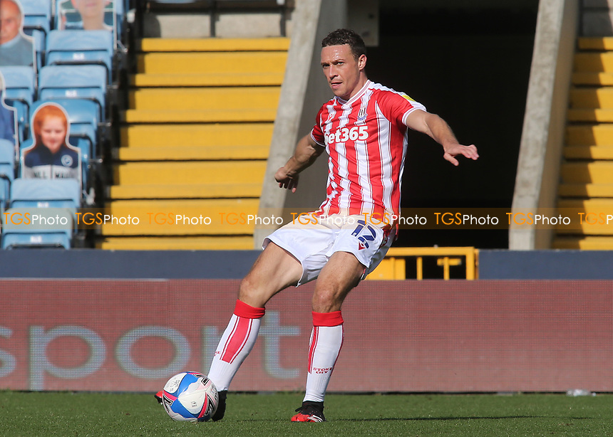 James Chester of Stoke City and Wales in action during Millwall vs Stoke City, Sky Bet EFL Championship Football at The Den on 12th September 2020