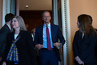 United States Senator John Thune (Republican of South Dakota) departs Republican Senate luncheons on Capitol Hill in Washington D.C., U.S., on Tuesday, November 5, 2019.<br />  <br /> Credit: Stefani Reynolds / CNP /MediaPunch