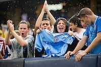BRONX, NY - Saturday May 21, 2016: New York City FC defeats the Colorado Rapids 5-1 at home at Yankee Stadium in regular season MLS play.