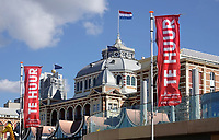 Nederland Den Haag Scheveningen -  maart 2021. Pand te huur vlakbij het Kurhaus. Vanwege de coronacrisis staan veel panden te huur.     Foto ANP / Hollandse Hoogte / Berlinda van Dam