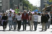 Montreal (qc) CANADA -sept 16 2007 file Photo- Walk for the Farha Fondation, evelyne Farha, Stephane Dion