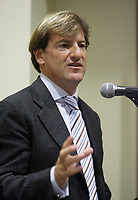 Montreal (QC) CANADA - February 26, 2008- Stephen Bronfman <br /> at a press conference<br /> preceding the launch of the first C-Vert Environment Forum held at YM-YWHA - Jewish Community Centres<br />                5400, Westbury ave.<br />                Montreal.<br /> <br /> Partners of the<br /> project, including Mayor of the Villeray-Saint-Michel-Parc-Extension borough <br /> Ms. Anie Samson and Councillor for Cote-des-Neiges-Notre-Dame-de-Grâce<br /> Mr. Marvin Rotrand, will be on hand to mark this event.<br /> <br /> photo : (c) Pierre Roussel -  Images Distribution<br /> <br /> <br /> PHOTO :  Agence Quebec Presse