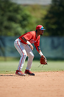 Philadelphia Phillies Logan Simmons (21) during a Florida Instructional League game against the Atlanta Braves on October 5, 2018 at the Carpenter Complex in Clearwater, Florida.  (Mike Janes/Four Seam Images)