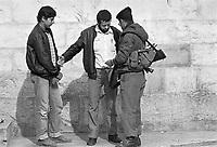 - Controls of Israeli border police in east Jerusalem....- controlli della polizia di frontiera Israeliana a Gerusalemme est