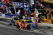 2017 NASCAR Cup - Daytona 500<br /> Daytona International Speedway, Daytona, FL USA<br /> Sunday 26 February 2017<br /> Kyle Busch, M&M's Toyota Camry, pit stop<br /> World Copyright: Michael L. Levitt/LAT Images<br /> ref: Digital Image levitt-0217-D500_46630