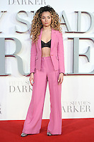 """Ella Eyre<br /> at the """"Fifty Shades Darker"""" premiere, Odeon Leicester Square, London.<br /> <br /> <br /> ©Ash Knotek  D3223  09/02/2017"""