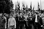 National Front march to Lewisham London 1977.<br /> Police protect members of the National Front, during the so-called Battle of Lewisham, which took place on 13 August. 500 members of the National Front marched from New Cross to Lewisham, various counter-demonstrations by approximately 4,000 people led to violent clashes between the two groups and between the anti-NF demonstrators and police. 5,000 police officers were present and 56 officers were injured in the riots, 11 of whom were hospitalised. 214 people were arrested for obstructing the police, threatening behaviour, assault, possession of an offensive weapon and throwing missiles. Later disturbances in Lewisham town centre saw the first use of police riot shields on the UK mainland.