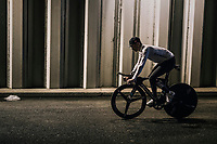 returning through a tunnel to the team buses after finishing the opening TT<br /> <br /> 104th Tour de France 2017<br /> Stage 1 (ITT) - Düsseldorf › Düsseldorf (14km)