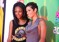 WESTWOOD, LOS ANGELES, CA, USA - JULY 17: Zola Ivy Murphy, Nicole Murphy, Nicole Mitchell Murphy at the Nickelodeon Kids' Choice Sports Awards 2014 held at UCLA's Pauley Pavilion on July 17, 2014 in Westwood, Los Angeles, California, United States. (Photo by Xavier Collin/Celebrity Monitor)