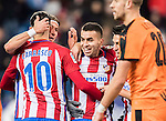 Angel Correa of Atletico de Madrid celebrates with teammates after scoring during their Copa del Rey 2016-17 Quarter-final match between Atletico de Madrid and SD Eibar at the Vicente Calderón Stadium on 19 January 2017 in Madrid, Spain. Photo by Diego Gonzalez Souto / Power Sport Images