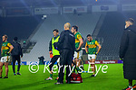 Brian Kelly, Kerry and David Moran, Kerry after the Munster GAA Football Senior Championship Semi-Final match between Cork and Kerry at Páirc Uí Chaoimh in Cork.