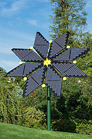 Solar panels in the form of a flower, Longwood Gardens, Pennsylvania, USA