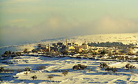 Arab village of Bir Nabala, north of Jerusalem, Israel, after a snow storm.