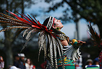 Indigenous People gather during the annual Indigenous Peoples Celebration in New York